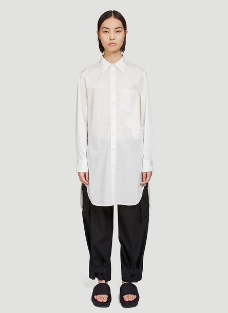 Y-3 Oversized Poplin Shirt in White size M
