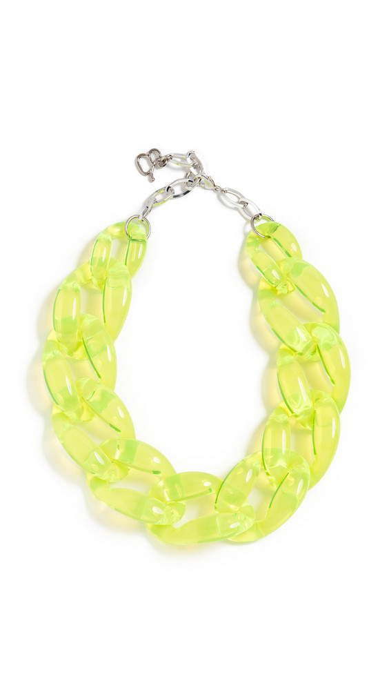 Diana Broussard Nathan Medium Link Chain Necklace in yellow