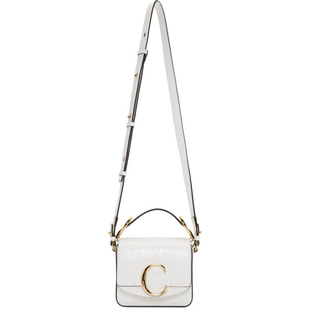 Chloe White Mini Chloe C Bag