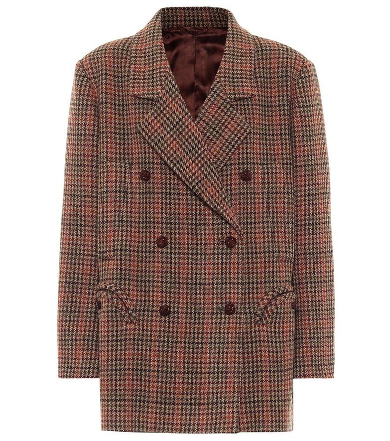 Blazé Milano Sealady houndstooth virgin wool jacket in brown