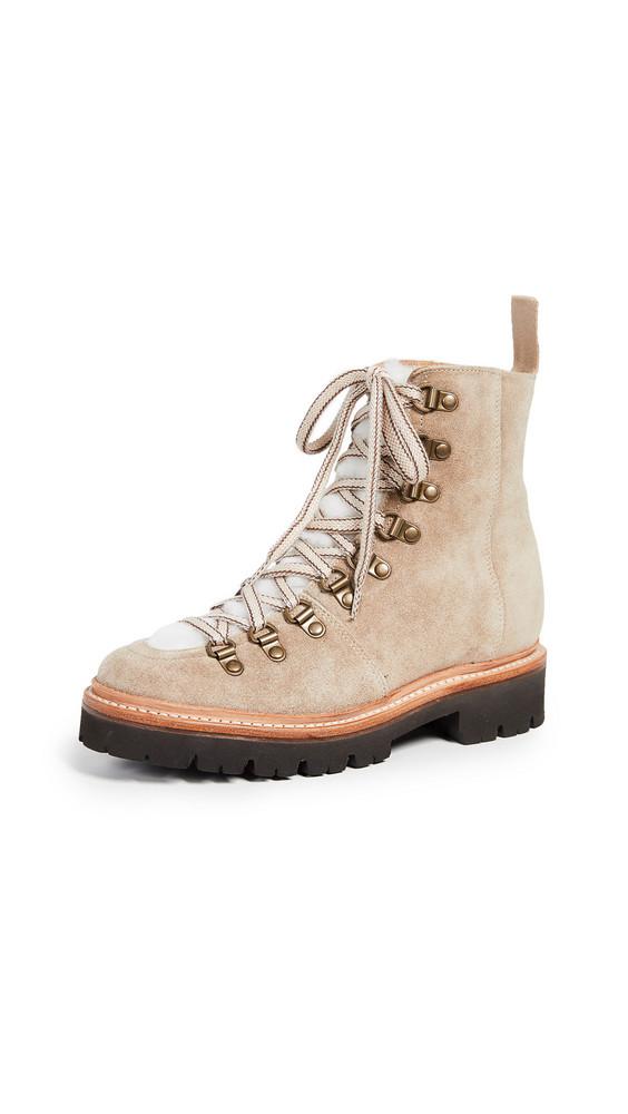 Grenson Nanette Combat Boots in cream