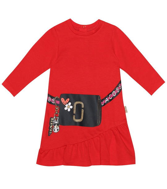Little Marc Jacobs Baby stretch cotton blend dress in red