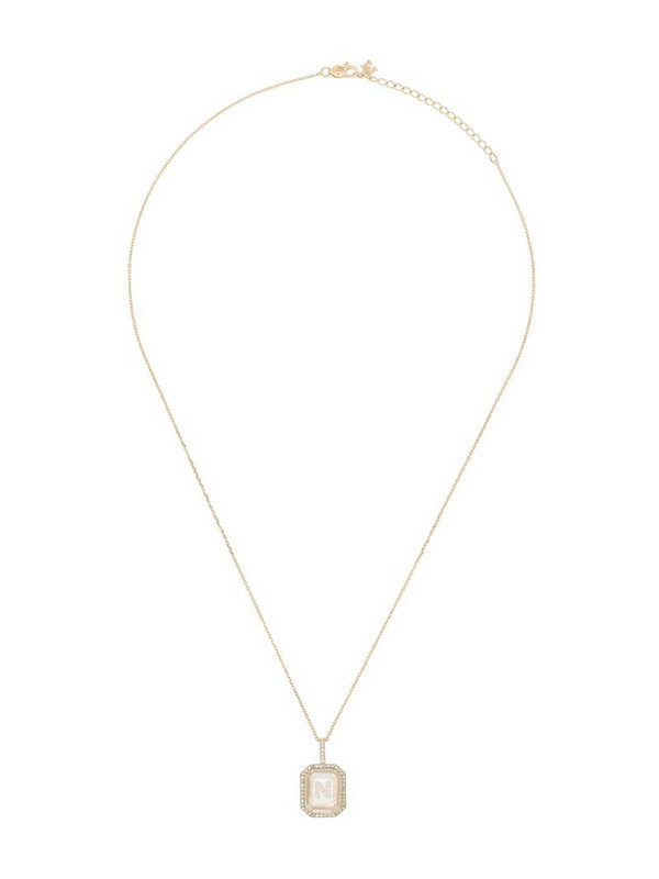 Mateo 14K yellow gold N-initial diamond necklace