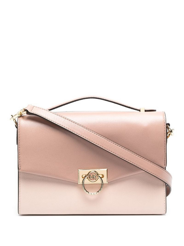 Michael Kors Collection Hendrix leather satchel in pink