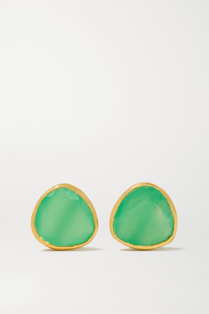 Pippa Small - 18-karat Gold Chrysoprase Earrings