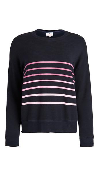 SUNDRY Stripes Oversize Sweatshirt in navy