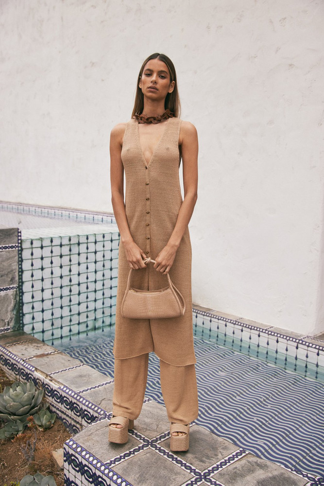 Cult Gaia Holly Knit Top - Light Camel (PREORDER)                                                                                               $218.00