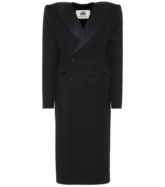 Balenciaga Dynasty Tuxedo wool coat in black