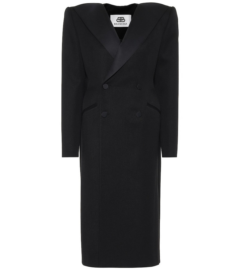 Balenciaga Dynasty Tuxedo wool coat in black