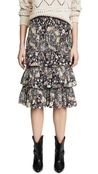 Isabel Marant Etoile Cencia Skirt in black / beige