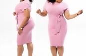 dress,pink,plus size