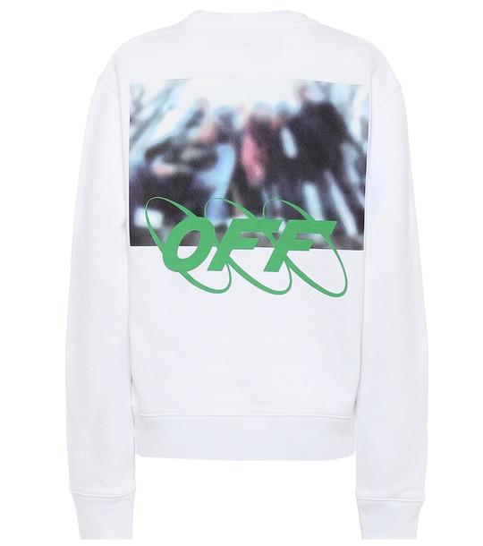 Off-White Logo cotton sweatshirt in white