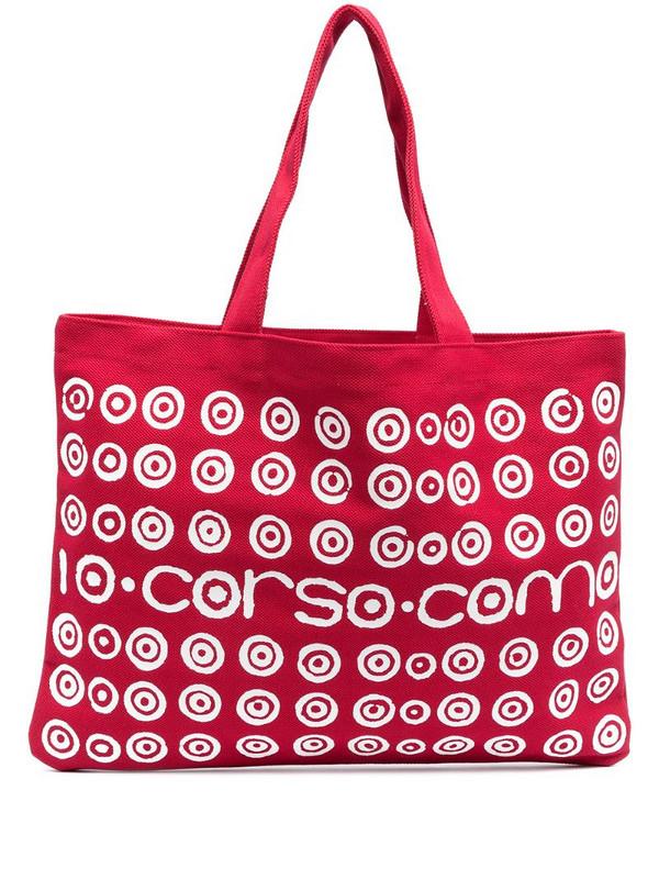 10 CORSO COMO spiral logo print tote bag in red
