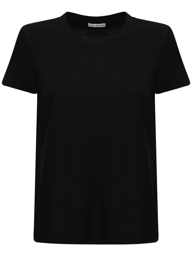 JAMES PERSE Little Boy Cotton Jersey T-shirt in black