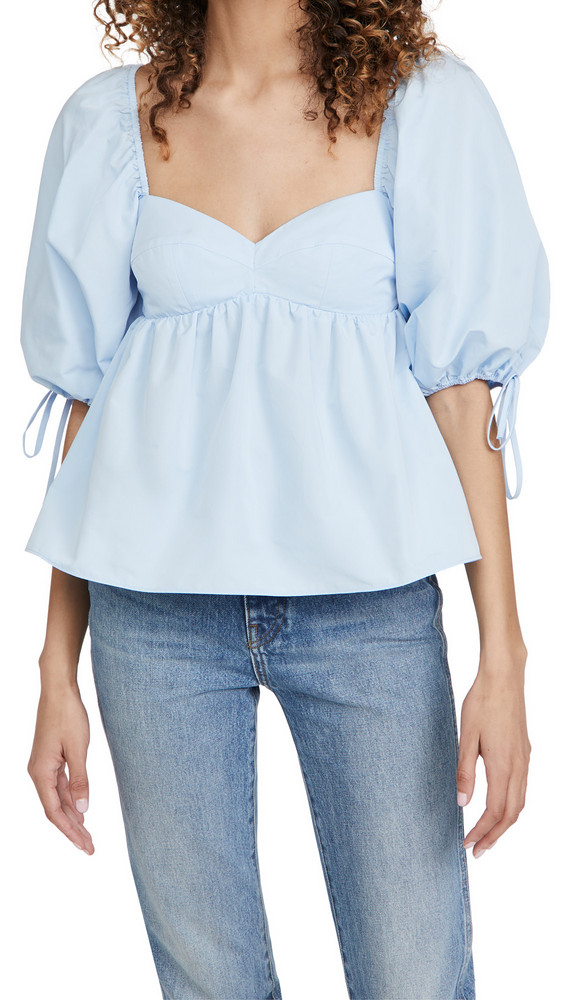 Amanda Uprichard Maxine Top in blue