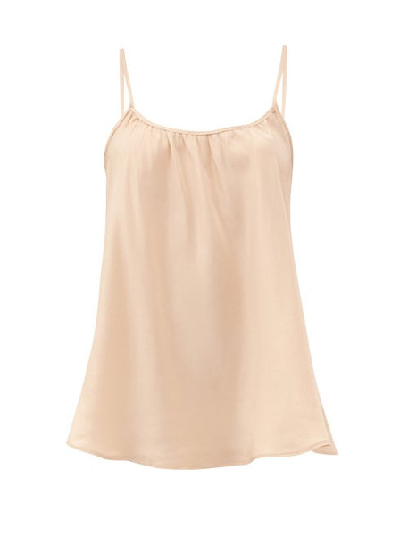 Loup Charmant - Scoop-neck Silk Camisole Top - Womens - Nude