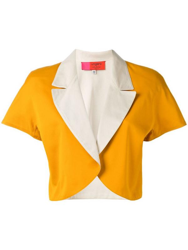 Emanuel Ungaro Pre-Owned colour block bolero jacket in orange