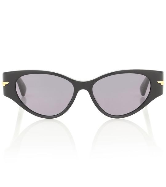 Bottega Veneta 02 cat-eye acetate sunglasses in black
