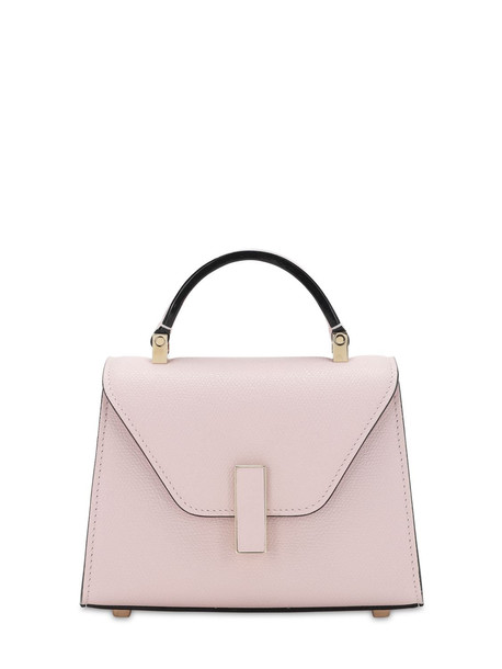 VALEXTRA Micro Iside Grained Leather Bag in pink