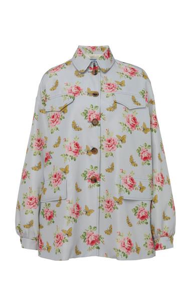 Prada Floral Printed Silk Jacket