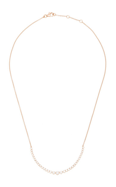 AS29 18K Rose Gold Diamond Necklace in pink