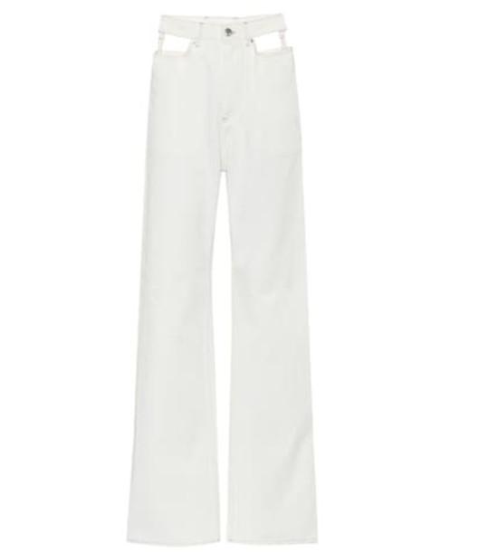 Maison Margiela High-rise wide-leg jeans in white