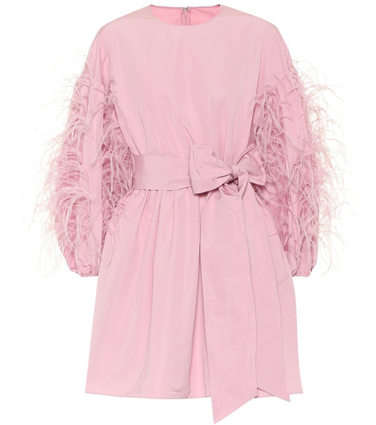 Valentino Cotton-blend minidress in pink