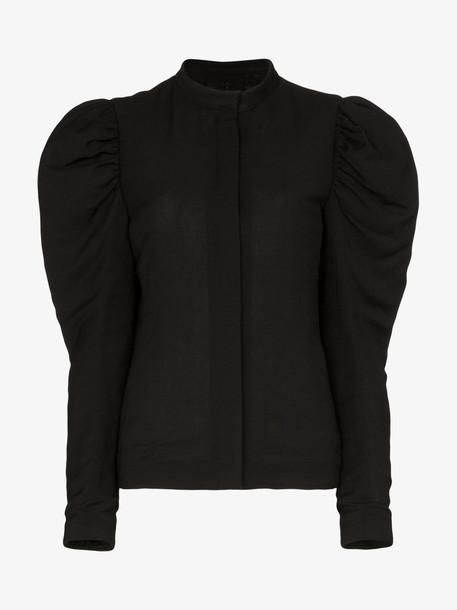 Kenneth Ize pouf shoulder fitted jacket in black