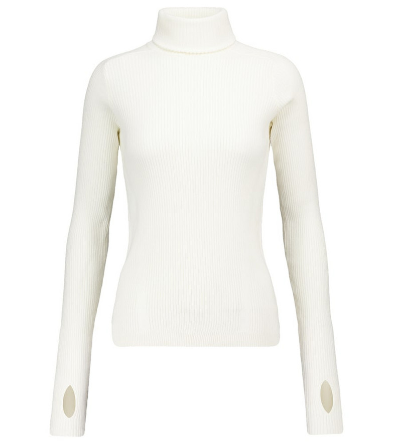 Reebok x Victoria Beckham Ribbed-knit cotton-blend sweater in white