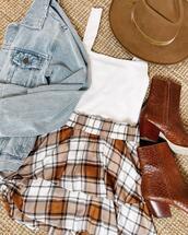 hat,jacket,shoes,skirt