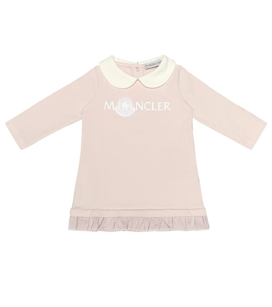 Moncler Enfant Baby stretch-cotton jersey dress in pink