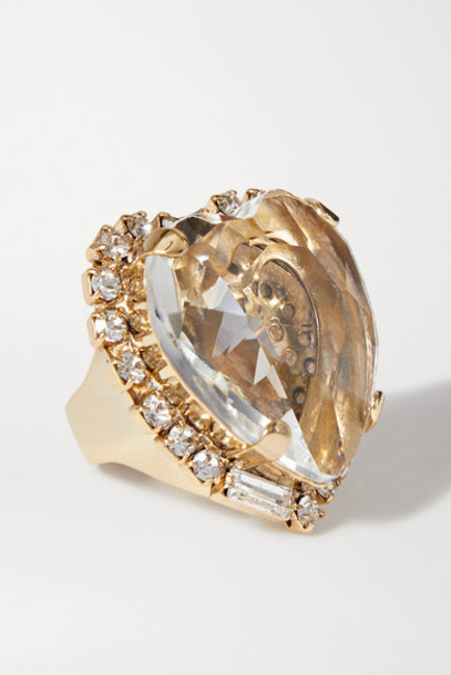 Rosantica - Cuori Gold-tone Crystal Ring