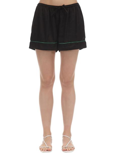 UNDERPROTECTION Lisa Satin Pajama Shorts in black