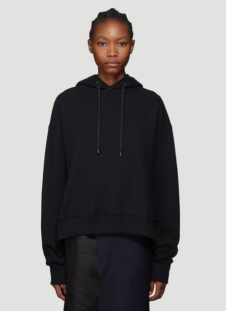 Maison Margiela Open Seam Hooded Sweatshirt in Black size S