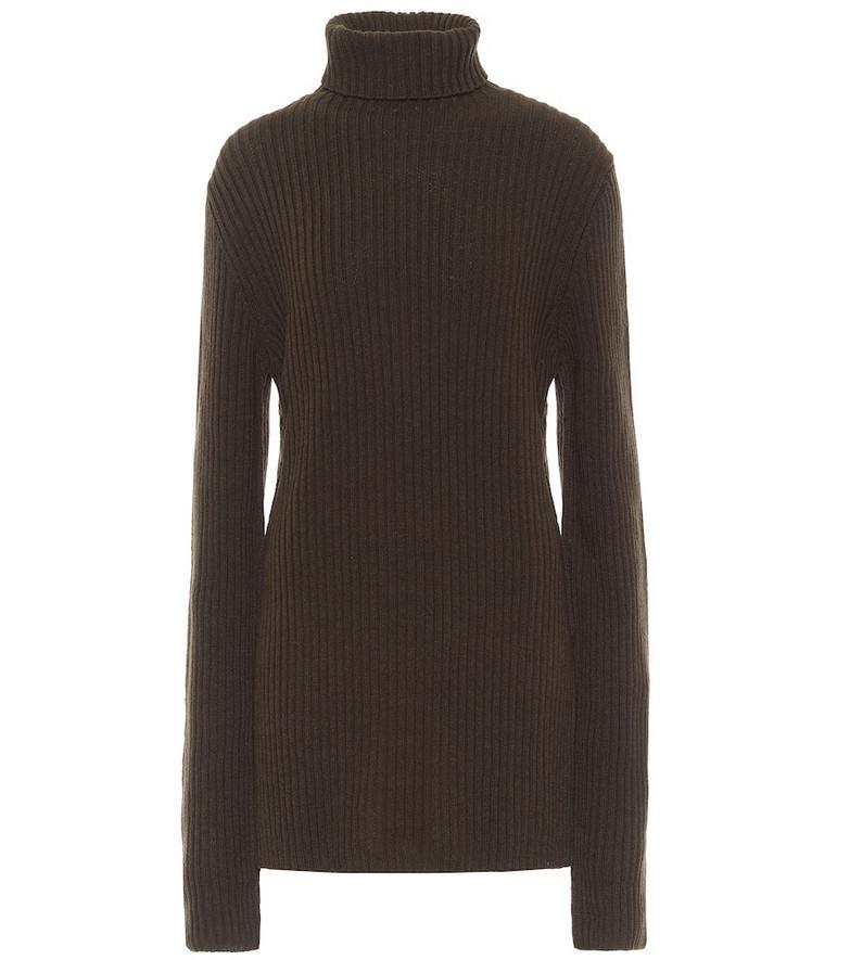 Ann Demeulemeester Wool turtleneck sweater in green