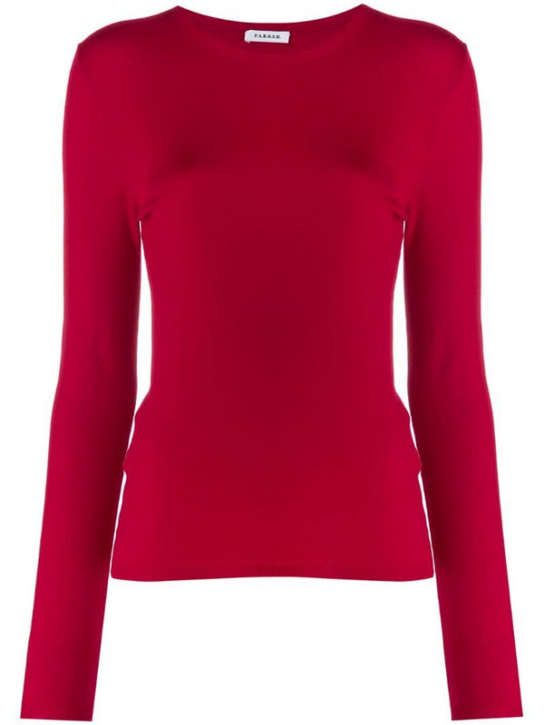P.A.R.O.S.H. crew neck jumper in red