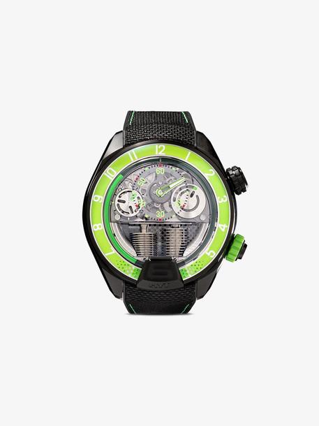 HYT Green and black H4 titanium watch
