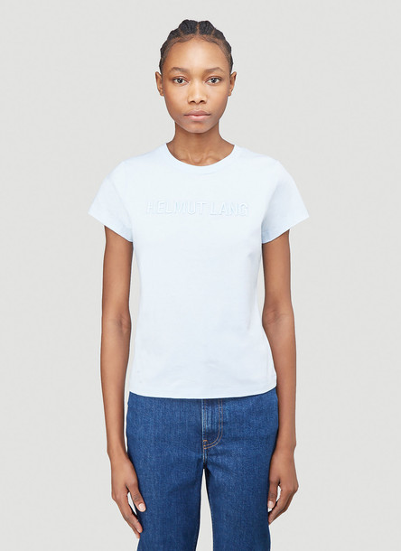 Helmut Lang Logo Baby T-Shirt in Blue size S