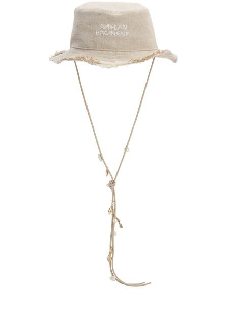 RUSLAN BAGINSKIY Cotton Bucket Hat in beige