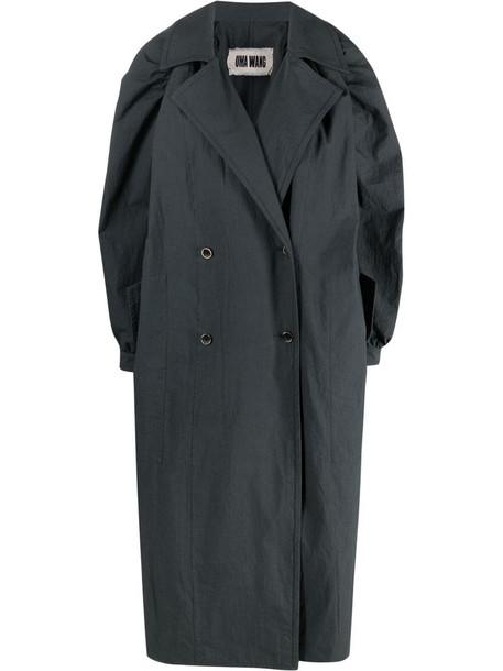 Uma Wang double-breasted coat - Blue