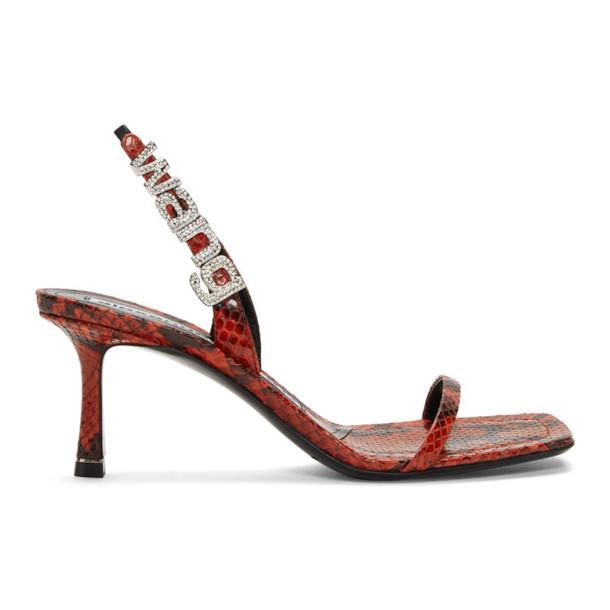 Alexander Wang Red Snake Ivy Heeled Sandals