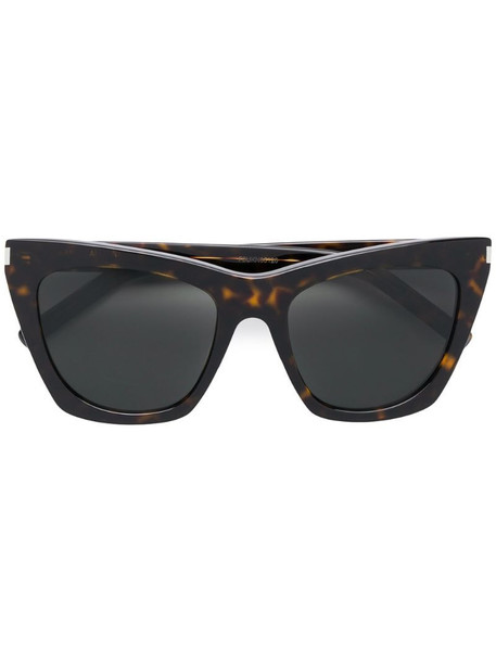 Saint Laurent Eyewear oversized tinted sunglasses in brown