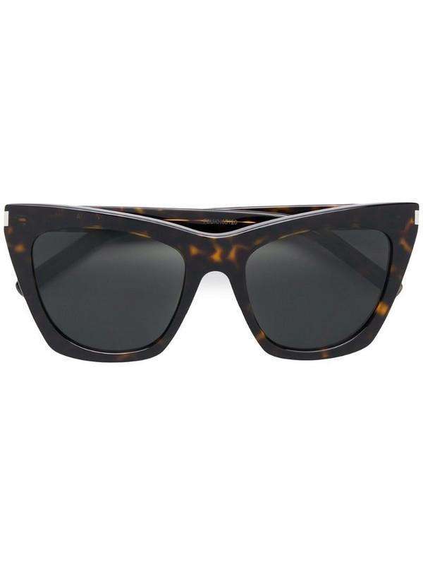 Saint Laurent Eyewear oversized tinted sunglasses in brown