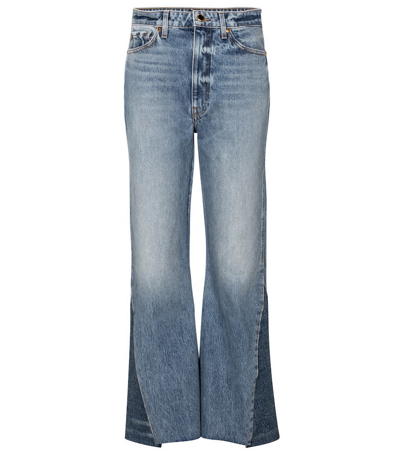 Khaite Layla high-rise flared jeans in blue