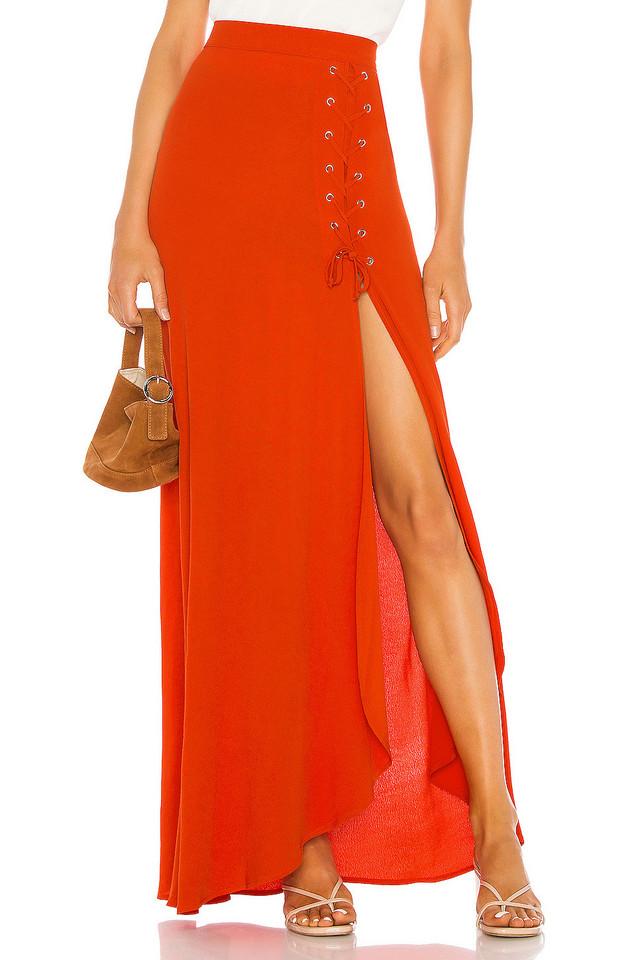 FLYNN SKYE Presley Skirt in red