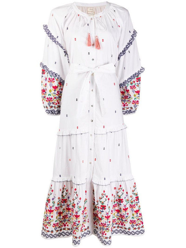 Chufy Kenko floral embroidered dress in white