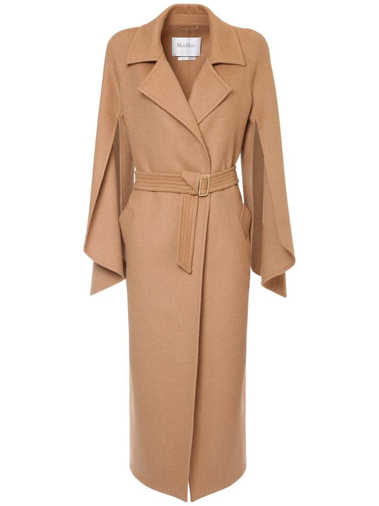 MAX MARA Pure Camel Doubled Coat W/ Belt