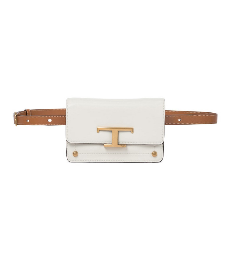 Tod's T Timeless leather belt bag in white