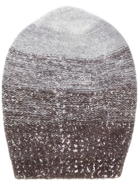 Fabiana Filippi gradient knit beanie hat in grey