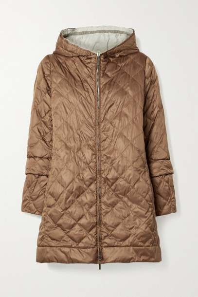 Max Mara - The Cube Enovel Hooded Quilted Shell Down Jacket - Light brown